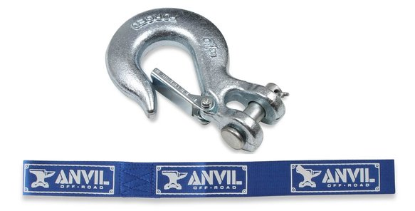 1061AOR - Anvil - Replacement Hook - 5/16 in. w/ Clasp & Pull Strap - 6,000 lbs. Image
