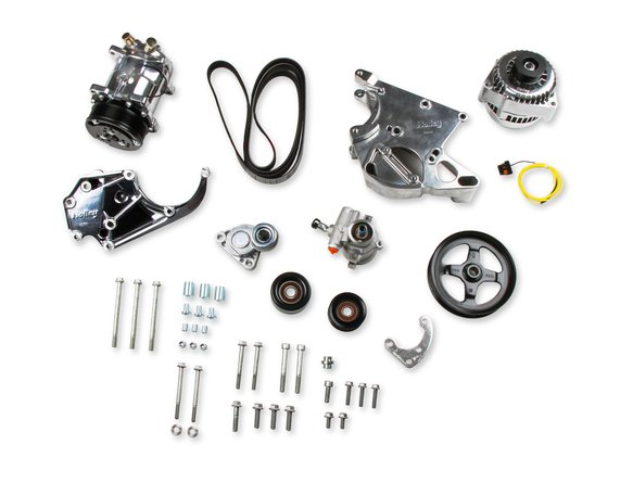 20-137P - Holley 20-137P LS/LT Complete Accessory Drive Kit- Polished Finish Image