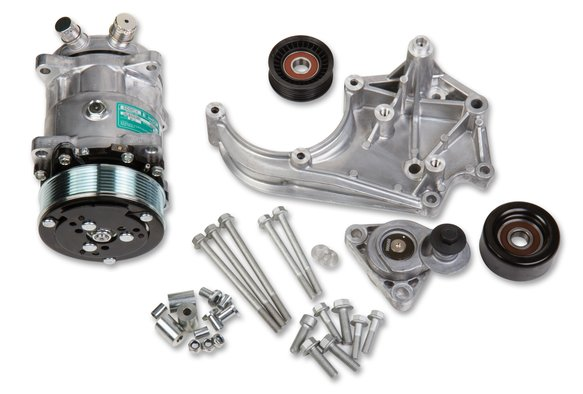 20-141 - Holley 20-141 LS A/C Accessory Drive Kit - Includes SD508 A/C Compressor, Tensioner, & Pulleys Image