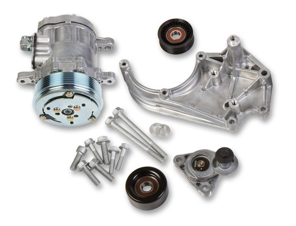 20-142 - Holley 20-142 LS A/C Accessory Drive Kit - Includes SD7 A/C Compressor, Tensioner, & Pulleys Image