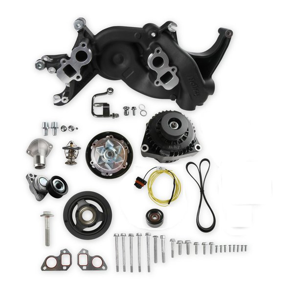 20-187BK - Holley 20-187BK Mid-Mount Race Accessory System- Black Finish Image