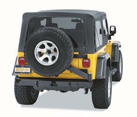 BES42931-01 - Bestop 42931-01 For Jeep TJ/YJ Bumper w/Tire Carrier/2-in. Receiver Hitch Image