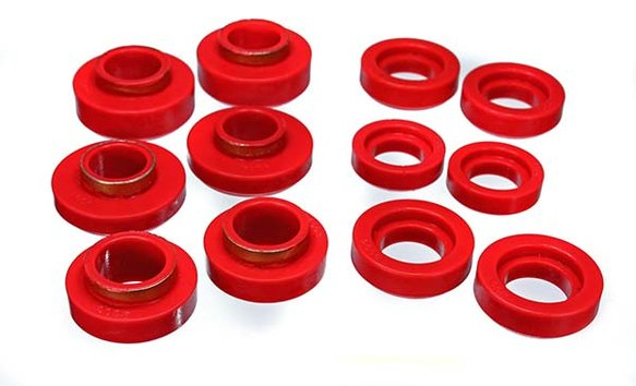 ENE34101R - ENERGY SUSPENSION 3.4101R POLYURETHANE BODY MOUNT BUSHINGS RED Image