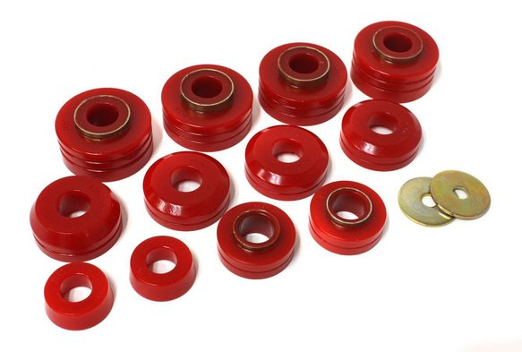 ENE44104R - ENERGY SUSPENSION 4.4104R POLYURETHANE 4WD BODY MOUNT BUSHINGS RED Image