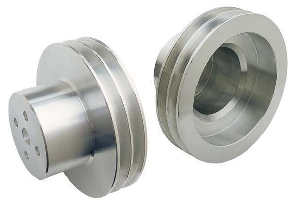 TSD6994 - Trans Dapt 6994 Olds Aluminum Double Upper Pulley Image