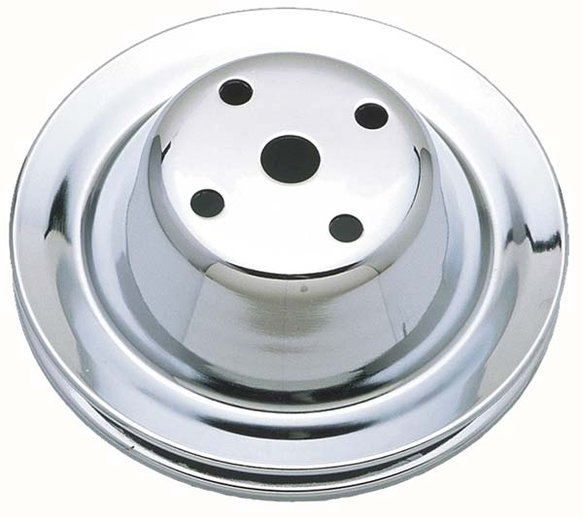 TSD9604 - Trans Dapt 9604 Chrome Pulley 1 Groove Water Pump Pulley SB Chevy Long Water Pump Image