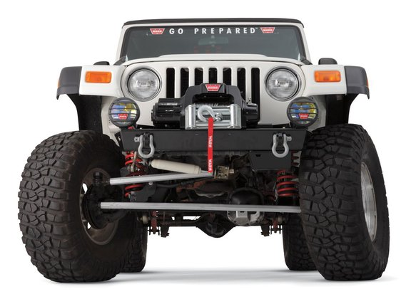WAR87700 - Warn 87700 Rock Crawler Stubby Bumper - 1997-2006 Wrangler TJ/Unlimited Image
